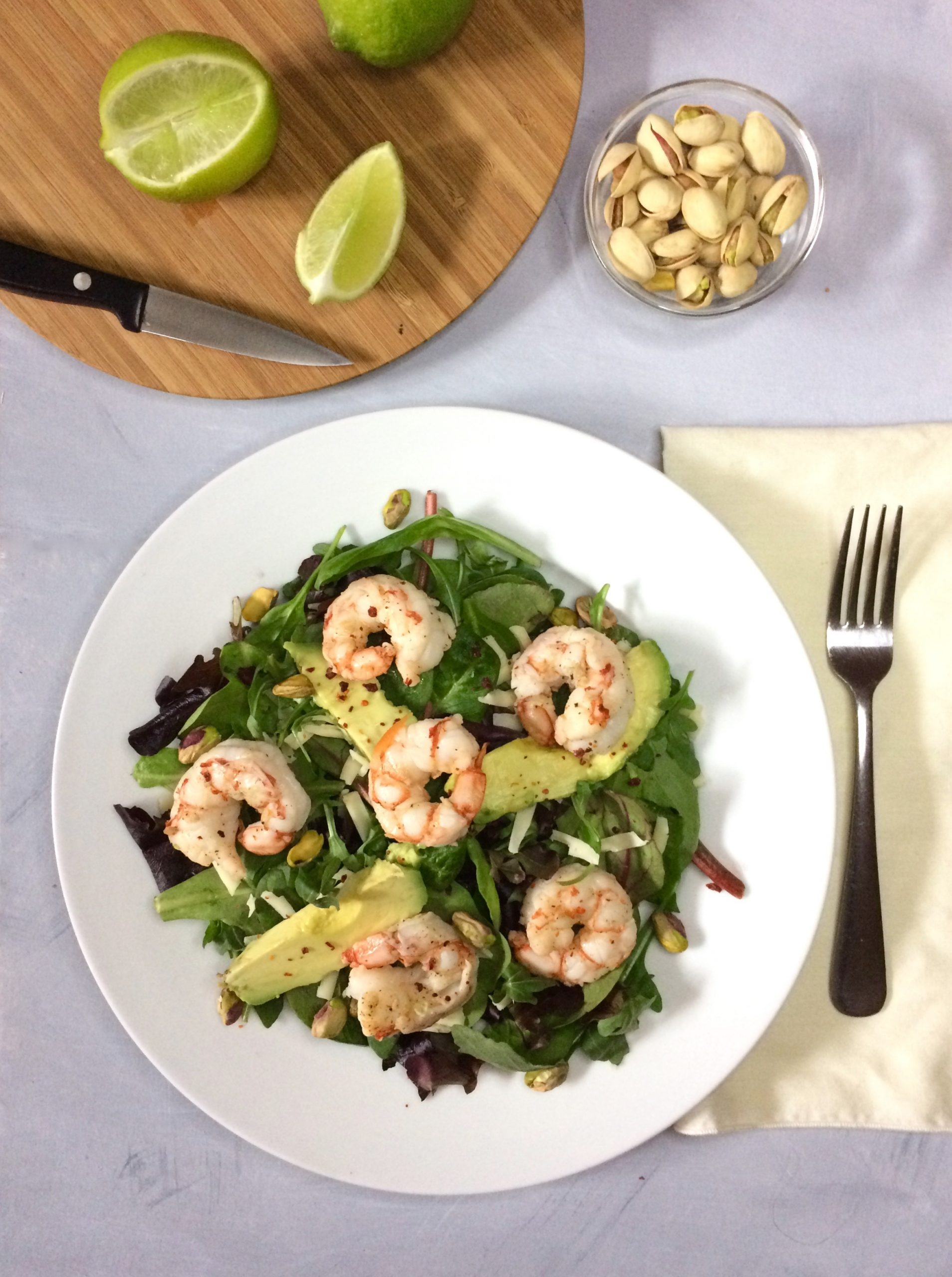shrimp on lettuce